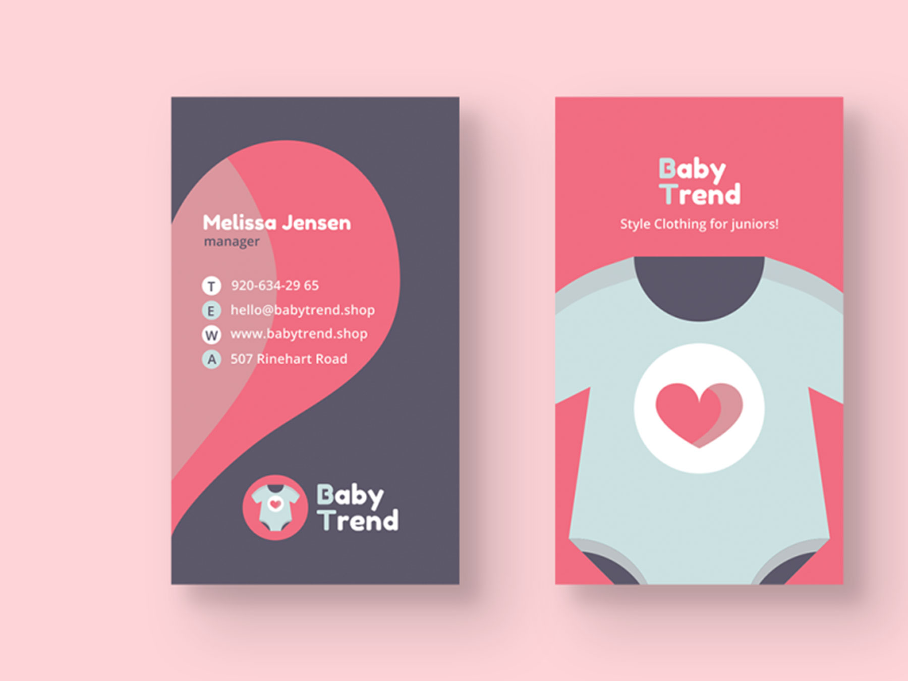 Baby Clothes Shop Business Card