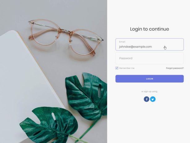 stylish login