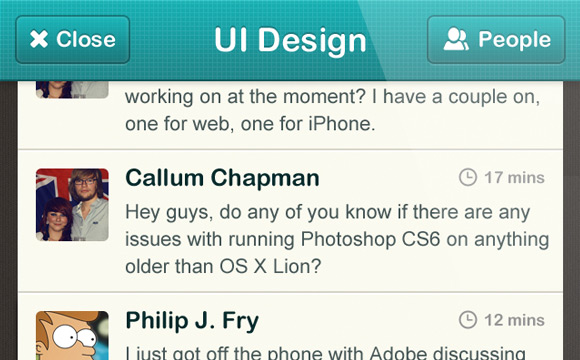 How to design a chatroom iPhone UI