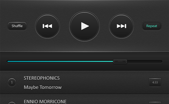 Create a Mobile Phone Music Player Interface