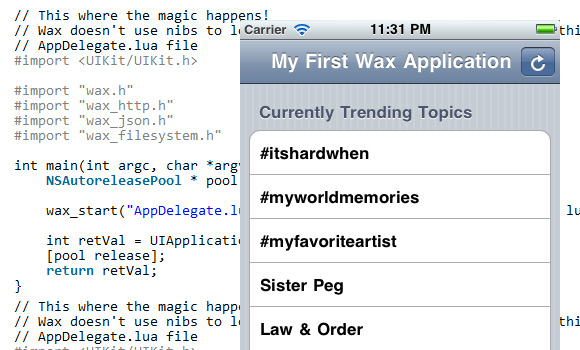 Building Native iOS Apps with Wax: Introduction