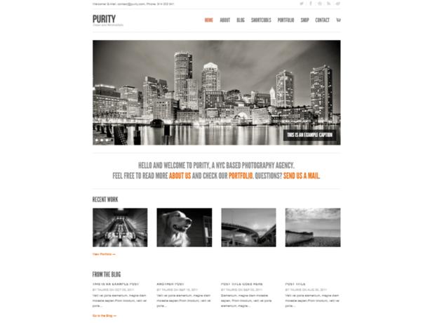 purity wordpress theme