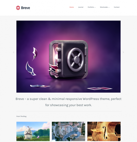 Breve - A Responsive Portfolio Blog Theme