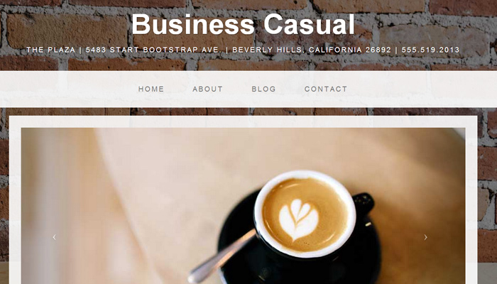 clean business casual twitter bootstrap theme