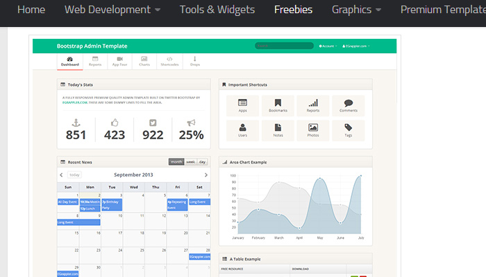 free twitter bootstrap admin template