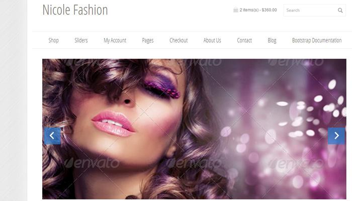 nicole fashion themeforest ecommerce bootstrap v3 template