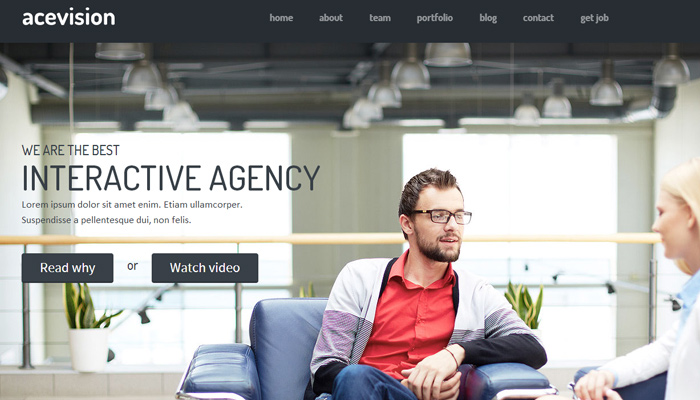 acevision one page bootstrap html template premium