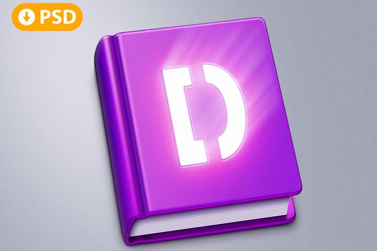 freebie psd book app icon osx