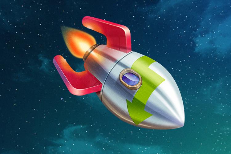 rocket downloader osx app icon design