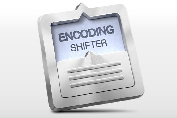 encoding shifter metal icon app osx design