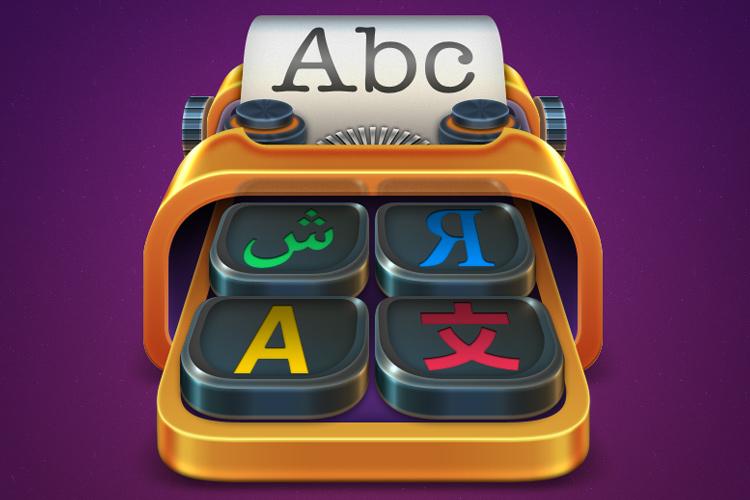 translation typewriter mac osx icon design