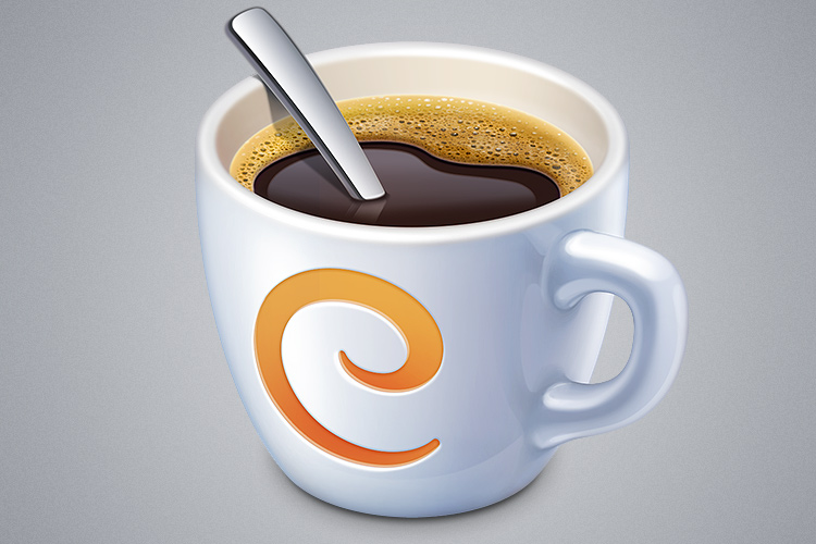caffeinated coffee cup osx app icon