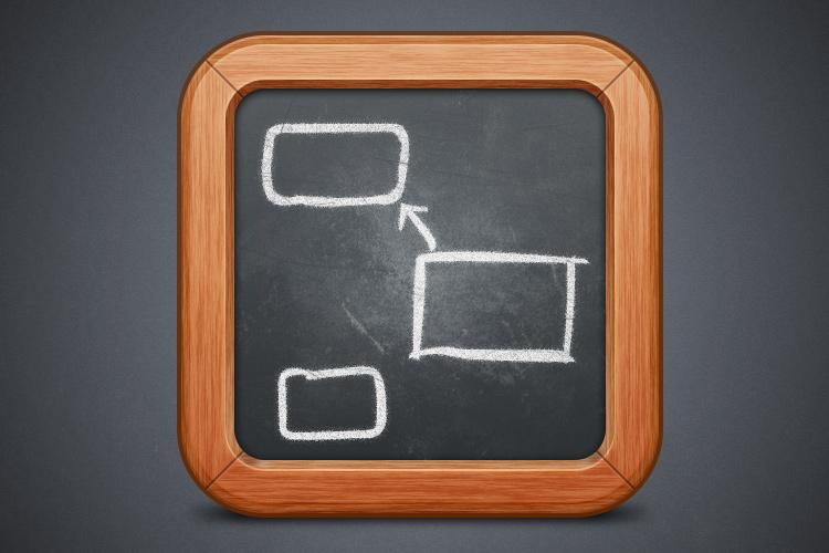 black white chalkboard design icon app