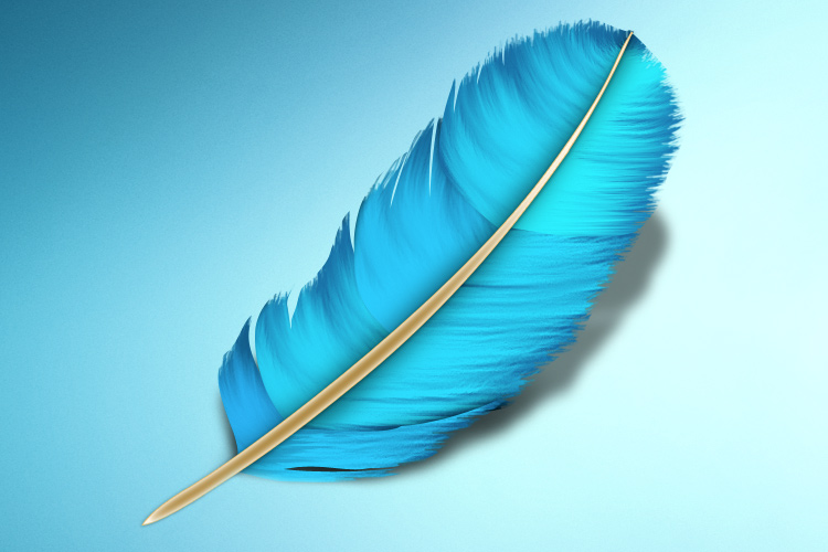 blue feather application icon mac