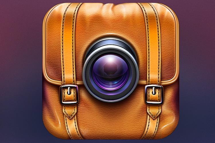 traveler camera leather photo app icon