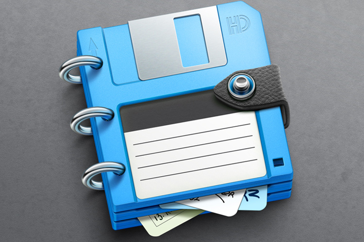 bluenote blue floppy disk osx app icon