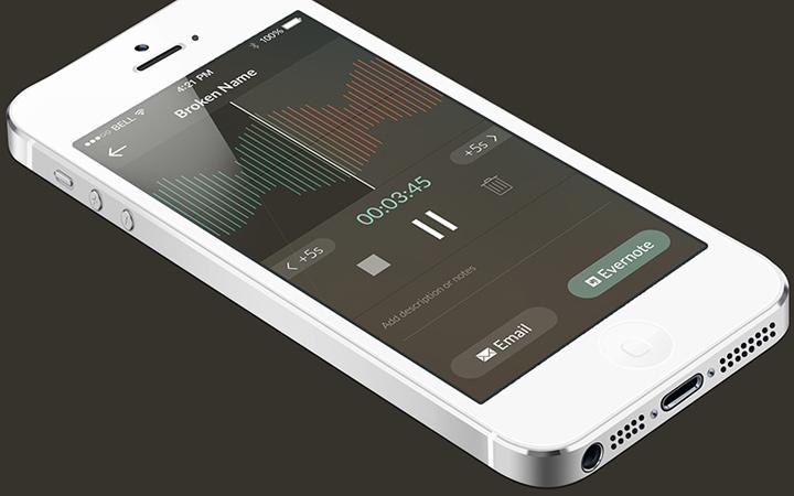 audio tagger ui interface app iphone
