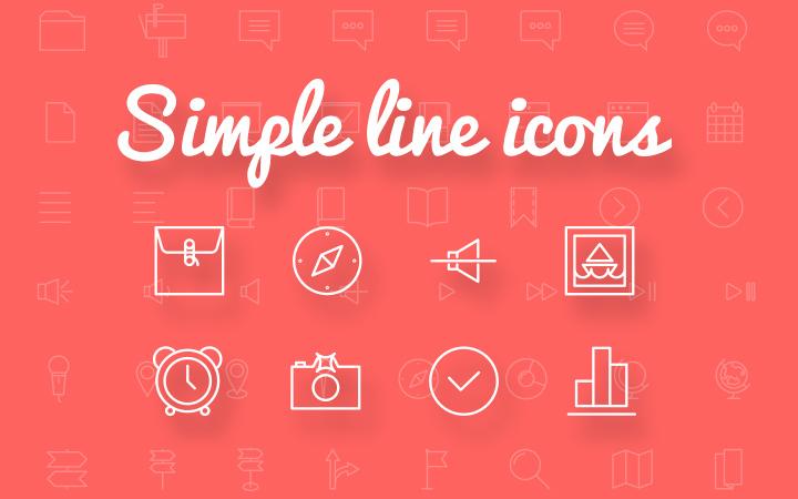 freebie ai svg psd simple line icons pack