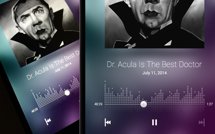 android podcast app ui design interface