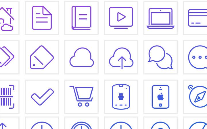 shop savvy line icons design pack