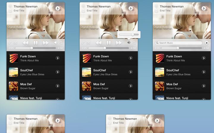 simple mini itunes interface design
