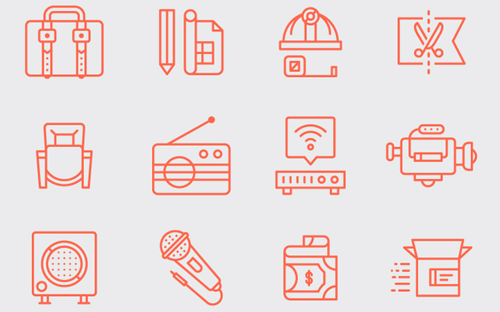 consulting line icons pack