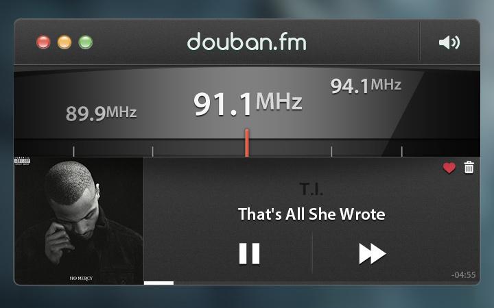 douban fm radio player gui redesign