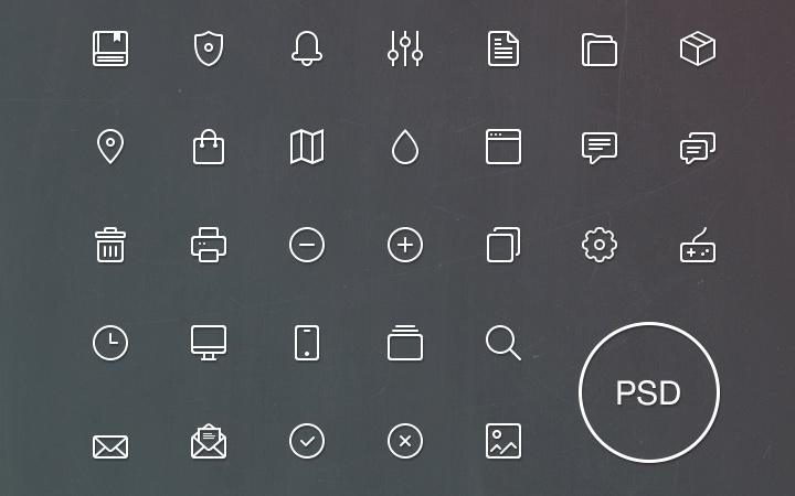 volume #1 freebie line icons pack