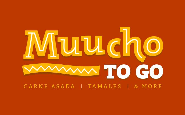 muucho mexican restaurant logo branding