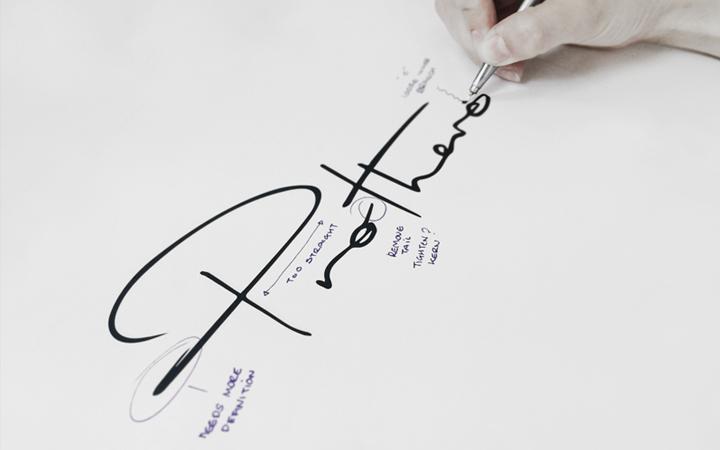 prothero custom lettering in development process