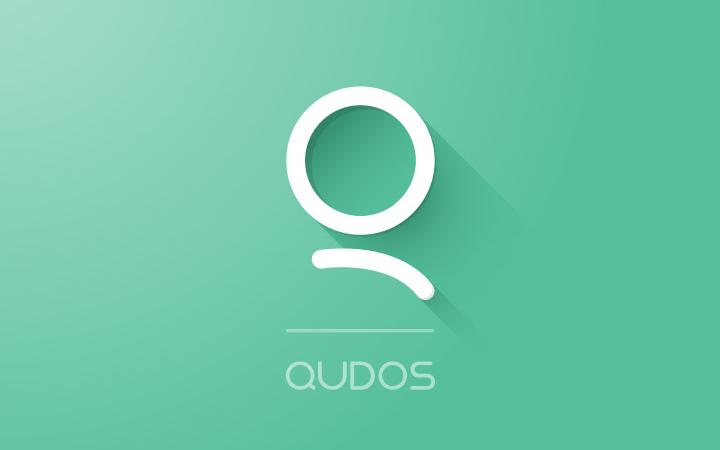 green qudos retro logo design customized