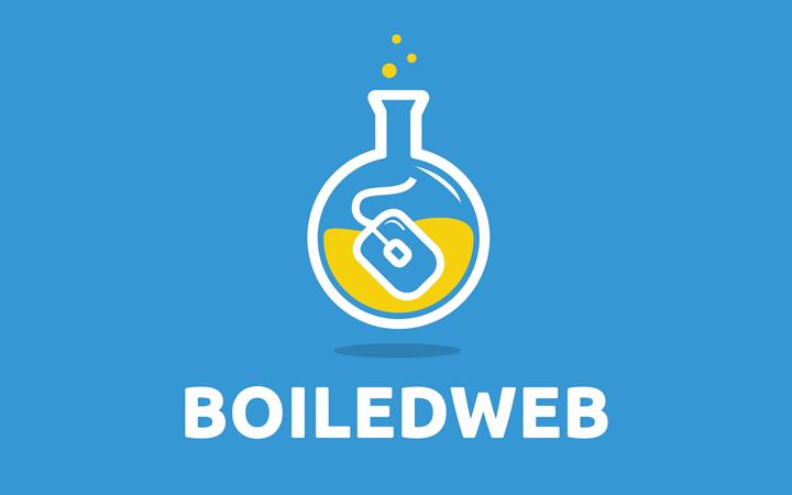 boiled web flask logo design