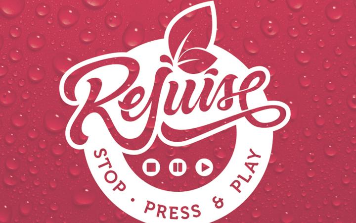 rejuice pressed juice logo design branding