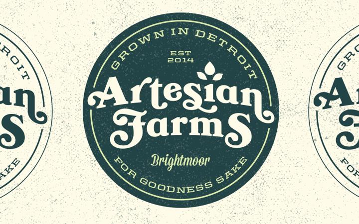artesian farms badge custom design logo