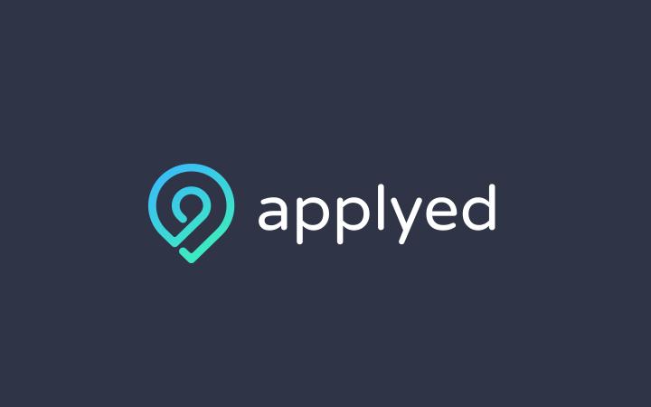 applyed clean custom logo typography icon