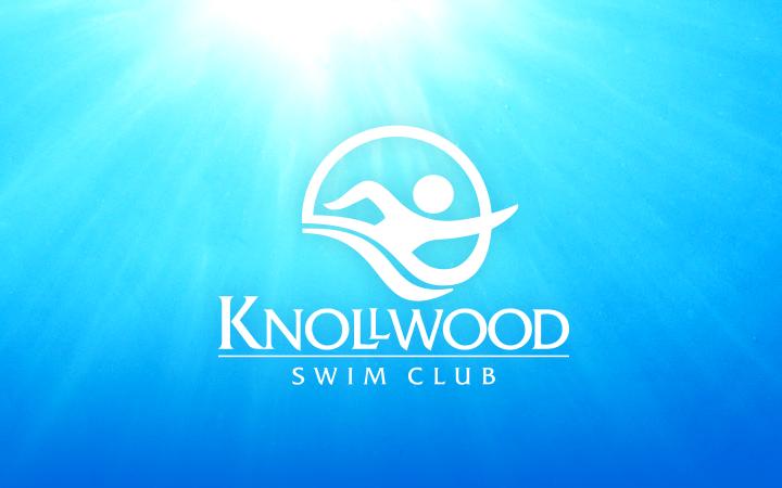 bright blue logo knollwood swimming club