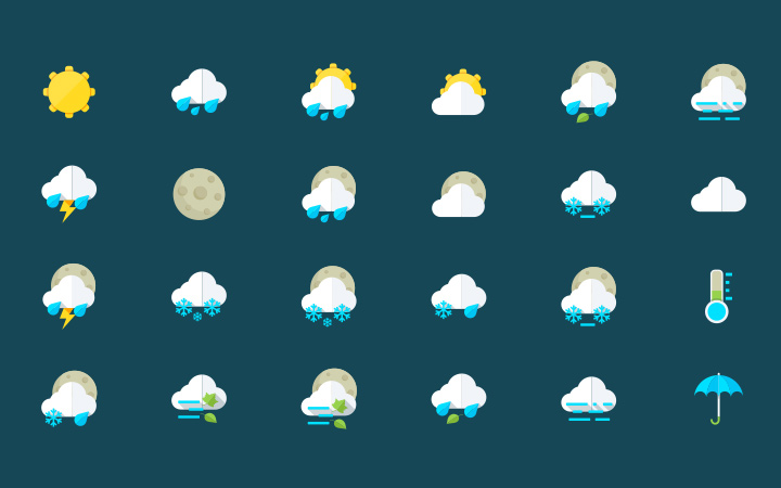 graphberry freebie weather iconset icons