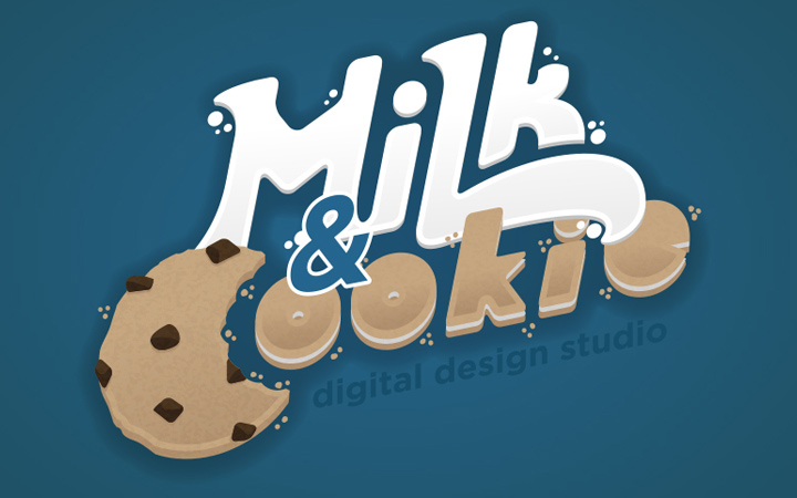 milk and cookie agency design logo effect