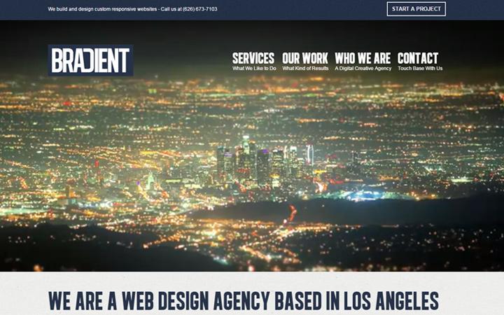 bradient web design agency fullscreen video bg