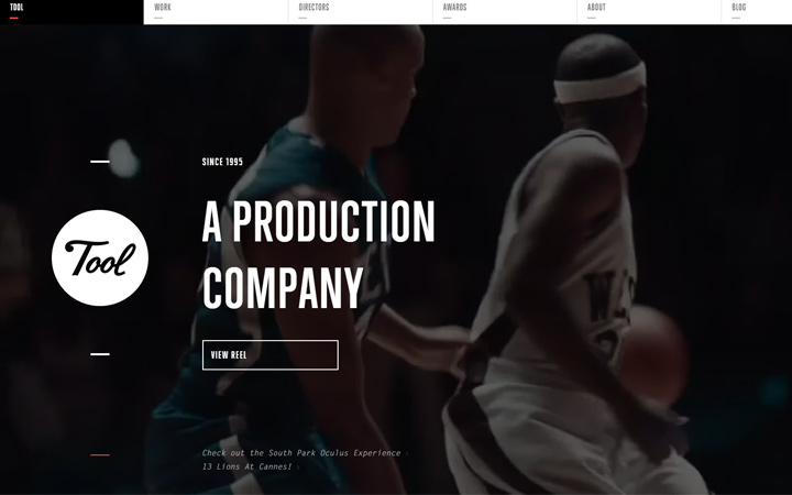 tool production company fullscreen video design