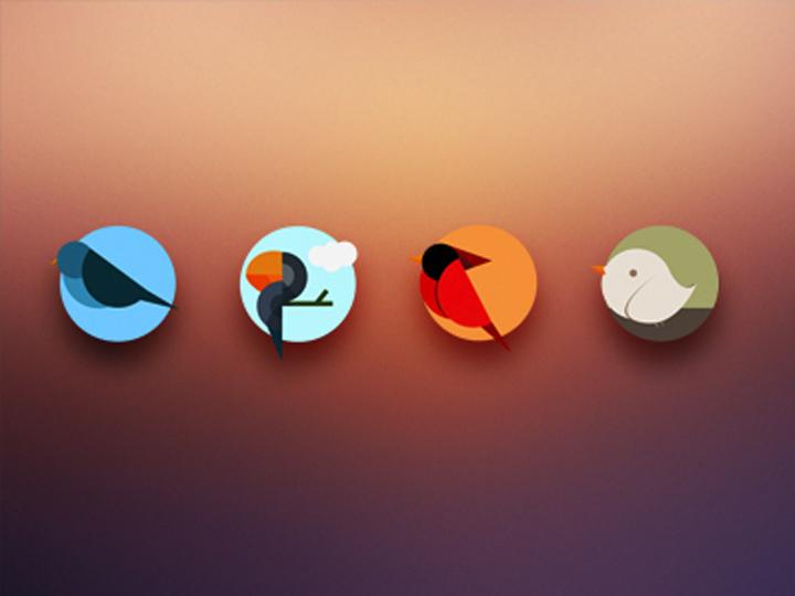 iconset icons circle birds colorful