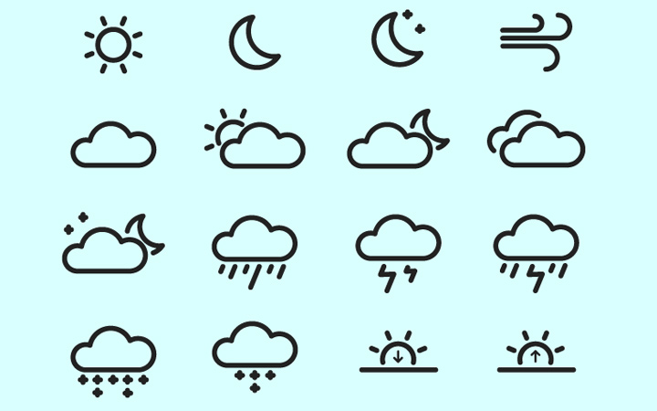 iconography weather outline iconset