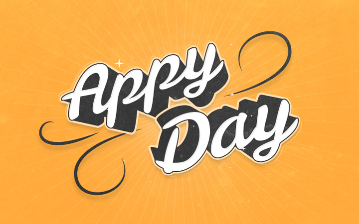3d curly text effect appy day