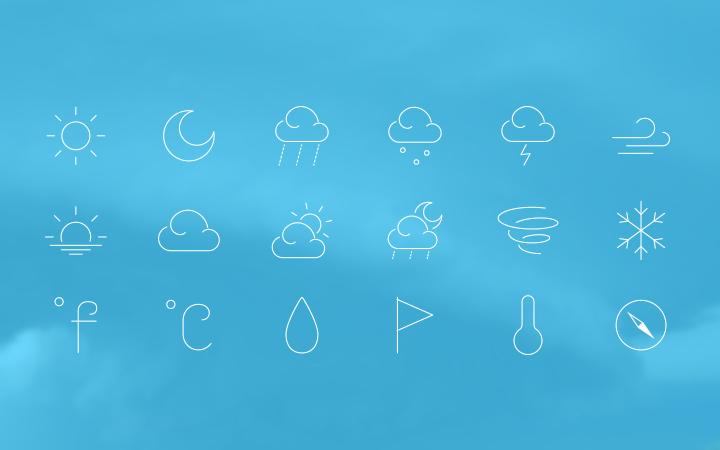 sun wind rain thin weather iconset