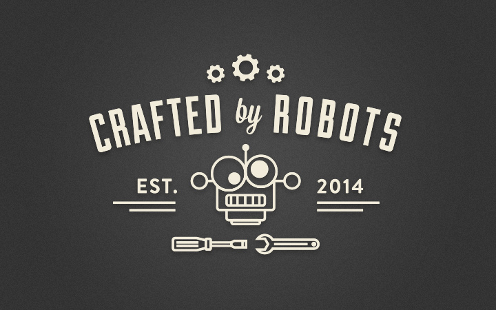 digital typography effect crafted by robots