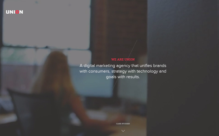 dark website union digital agency video background