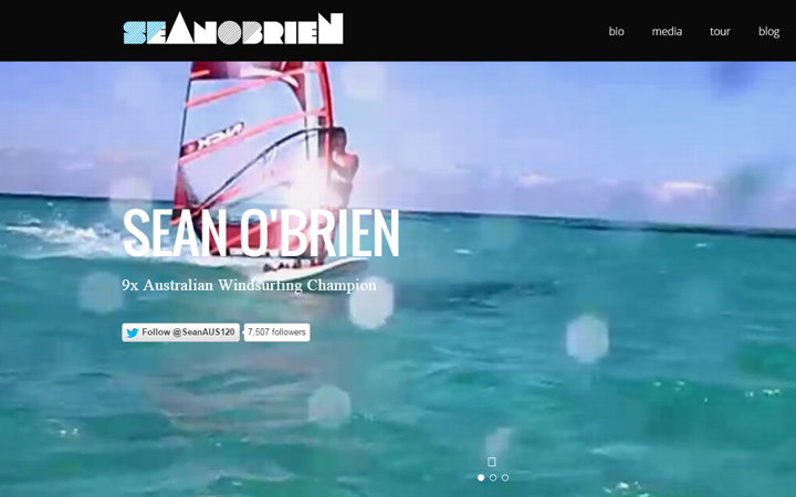 sean obrien windsurfer professional website portfolio