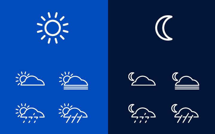 san francisco weather icons minimalism