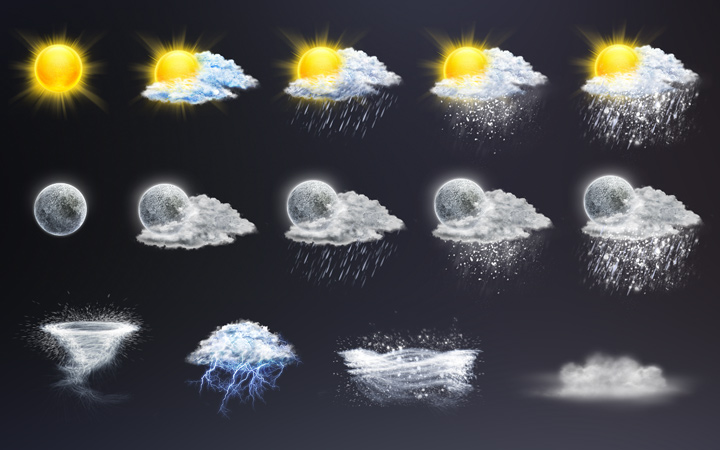 detailed fancy weather iconset preview