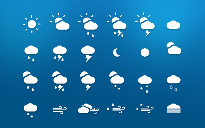 white shadow icons iconset weather